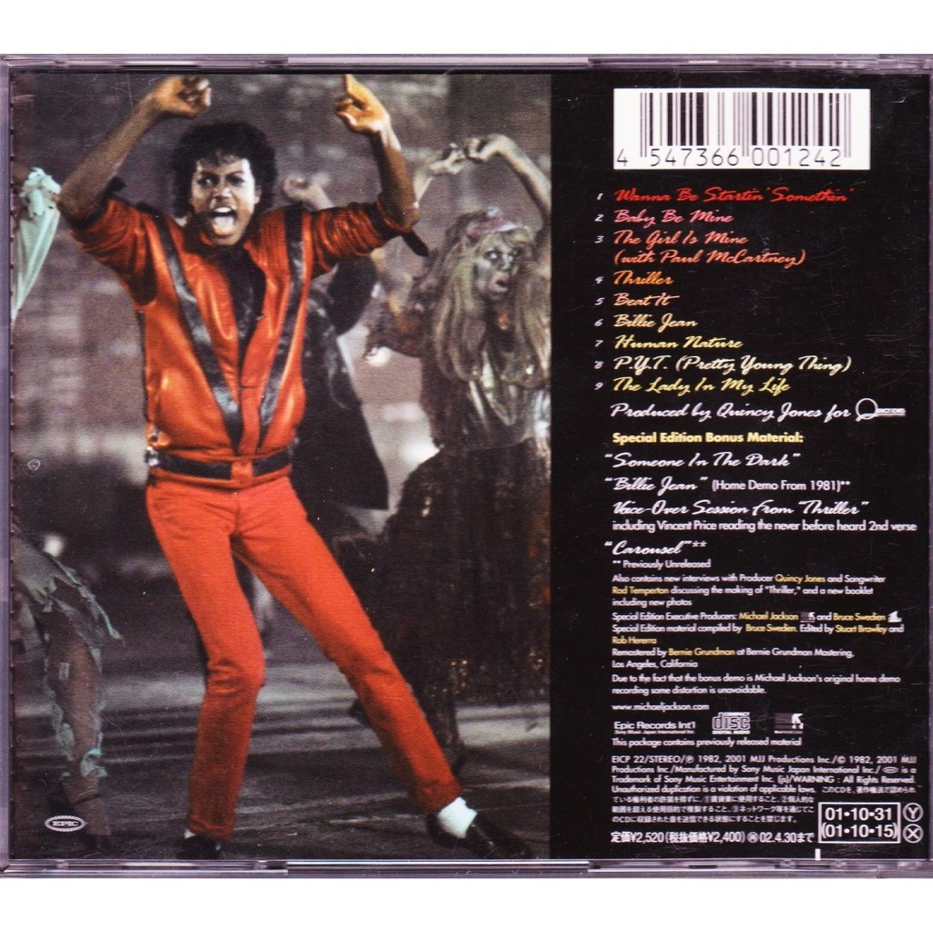 Thriller Special Edition By Michael Jackson Cd With