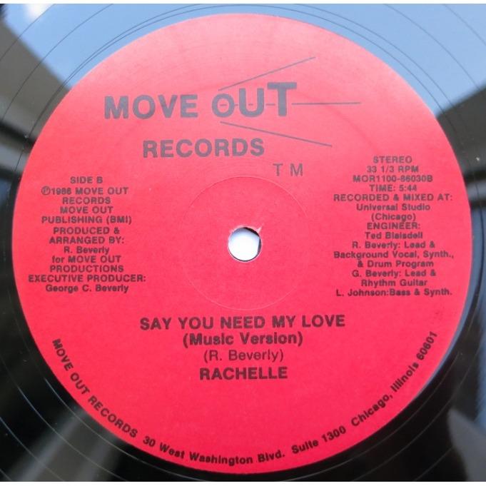 Rachelle Say You Need My Love