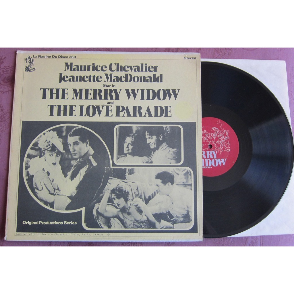 MAURICE CHEVALIER    JEANETTE McDONALD THE MERRY WIDOW   THE LOVE PARADE   LIMITED EDITION FOR THE CHEVALIER CLUBS  PARIS FRANCE