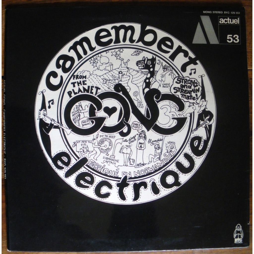 Camembert 233 Lectrique By Gong Lp Gatefold With Paskale