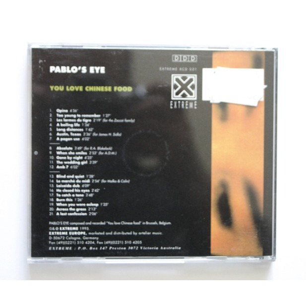 You love chinese food by Pablo'S Eye, CD with guezart