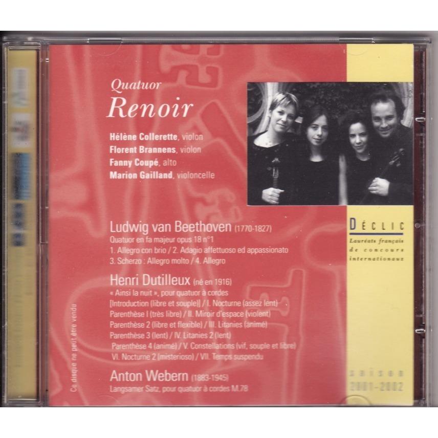 Quatuor Renoir Beethoven / Dutilleux / Webern