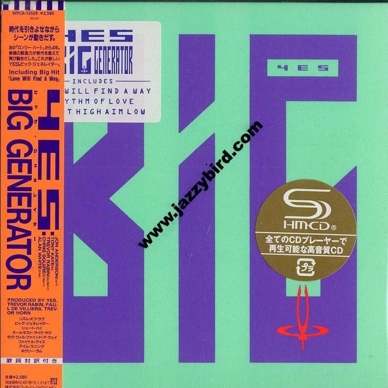 Big Generator Shm Cd By Yes Cd With Jazzybird Ref