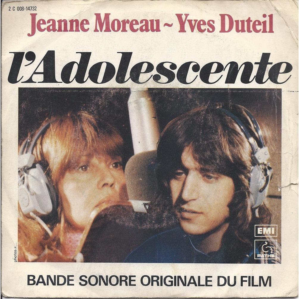 JEANNE MOREAU et  YVES DUTEIL L.ADOLESCENTE