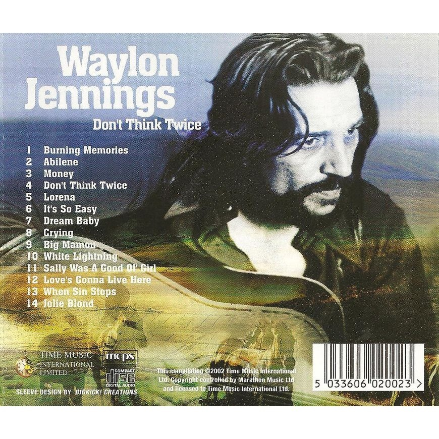 Don T Think Twice By Waylon Jennings Cd With Grigo