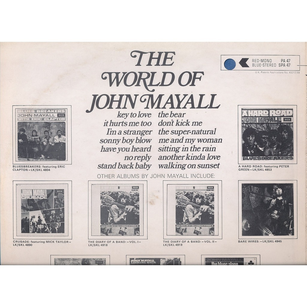 The world of john mayall by John Mayall, LP with neil93 - Ref:115427513