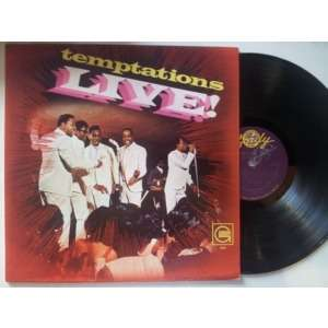 temptations live by the temptations lp with jetrecords. Black Bedroom Furniture Sets. Home Design Ideas
