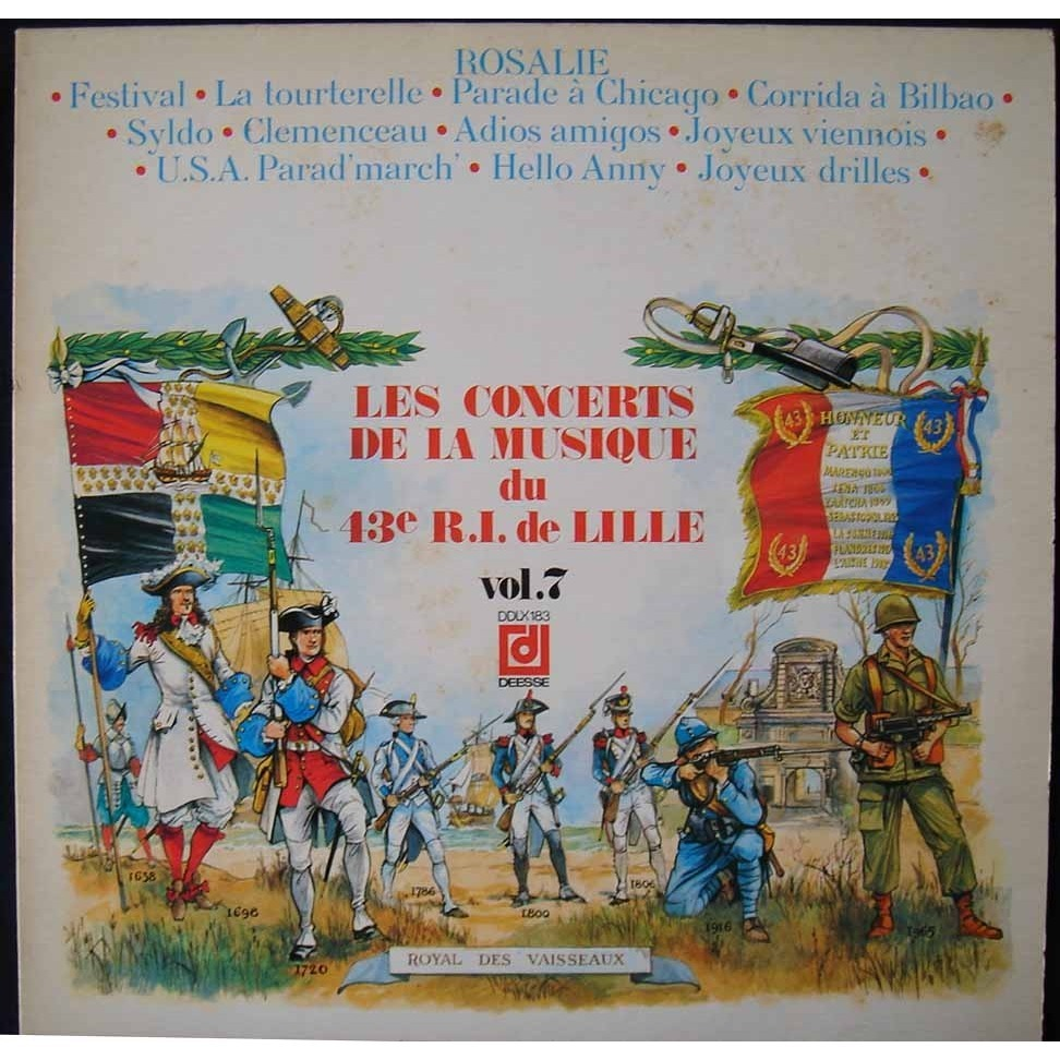 O Concert Lille les concert de musique du 43e r.i de lille vol 7commandant