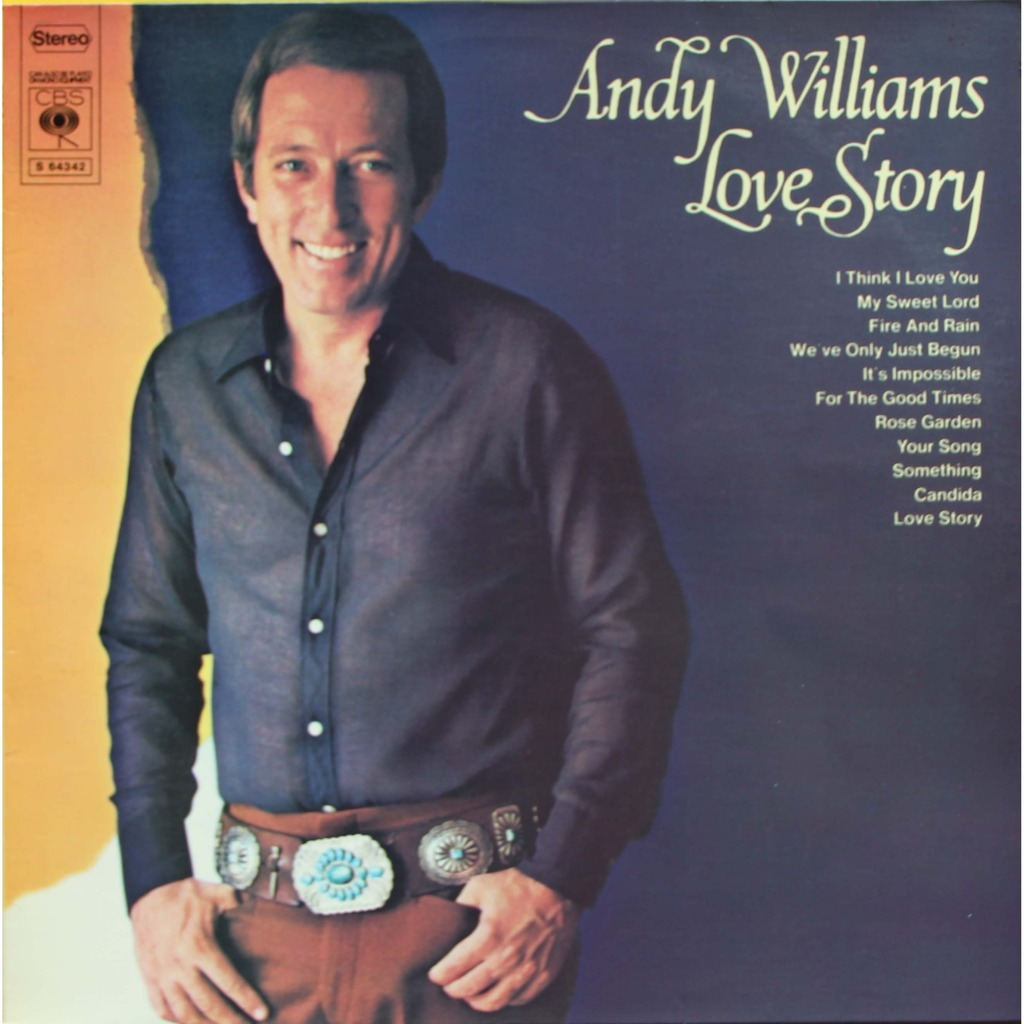 Love Story By Andy Williams Lp With Nyphus Ref 115431141