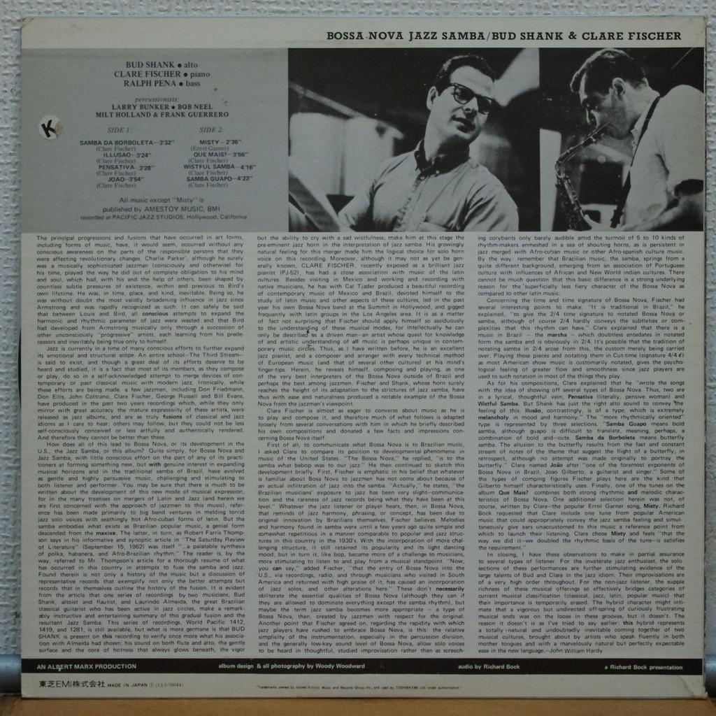 Bud Shank & Clare Fischer Bossa Nova Jazz Samba