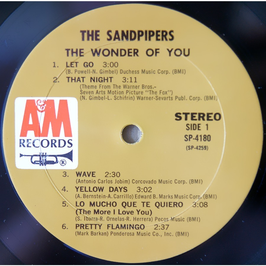 The Wonder Of You By The Sandpipers Lp 180 220 Gr With