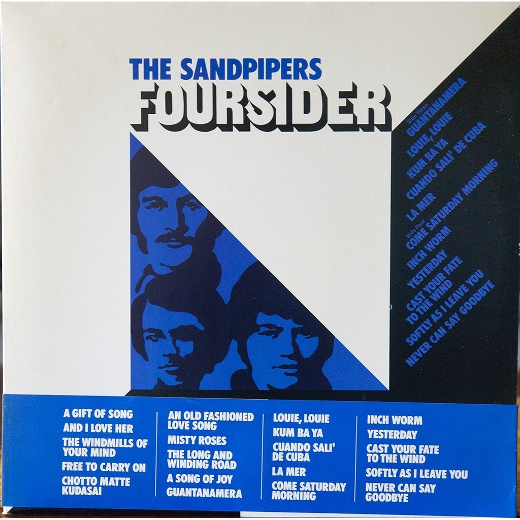 Foursider By The Sandpipers Lp X 2 With Rarissime Ref
