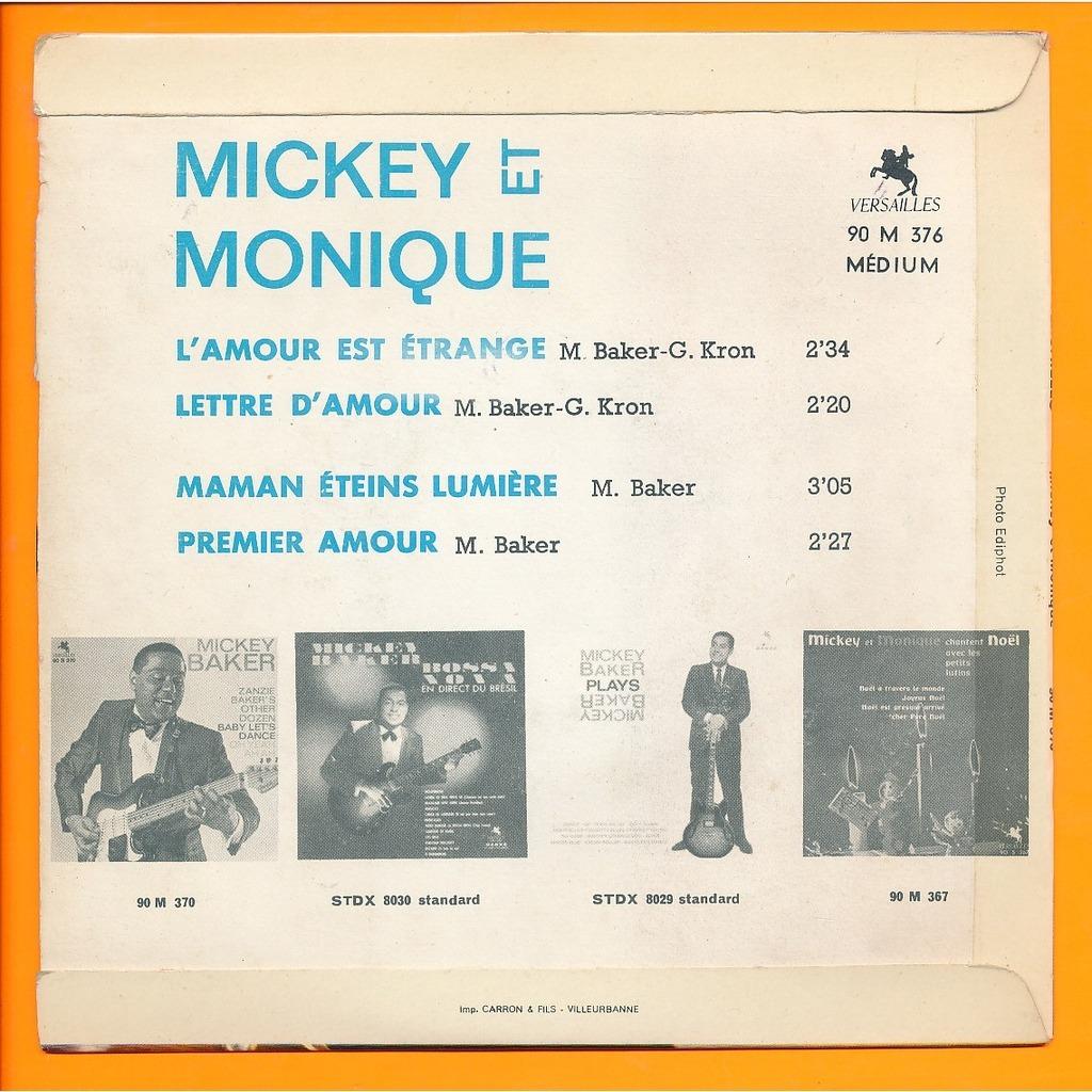 Lamour Est étrange Lettre Damour Maman éteins Lumière Premier Amour De Mickey Et Monique Mickey Baker 45 Rpm Ep 4 Títulos Con Neil93