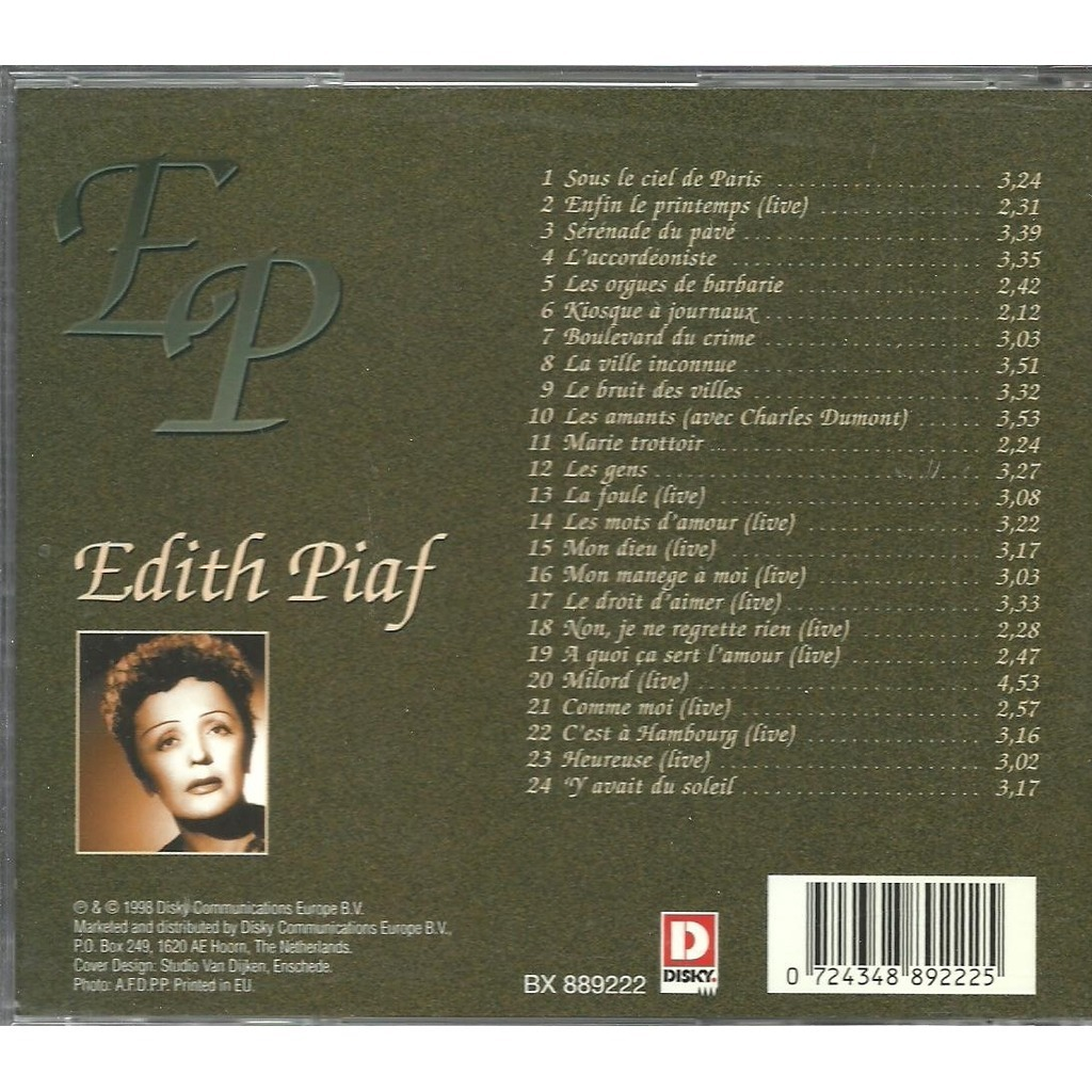La Foule By Edith Piaf Cd With Gilou45 Ref 115502904