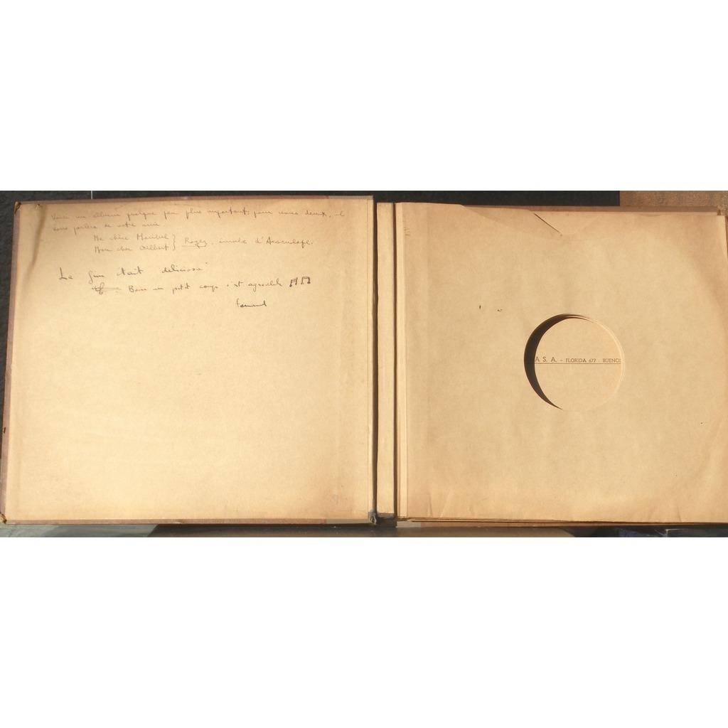 Classeur vide Beethoven Sociedad de sonatas  vol 3 Album / classeur vide pour 7 disques 78 trs 30 cm Beethoven Sociedad de sonatas  vol 3