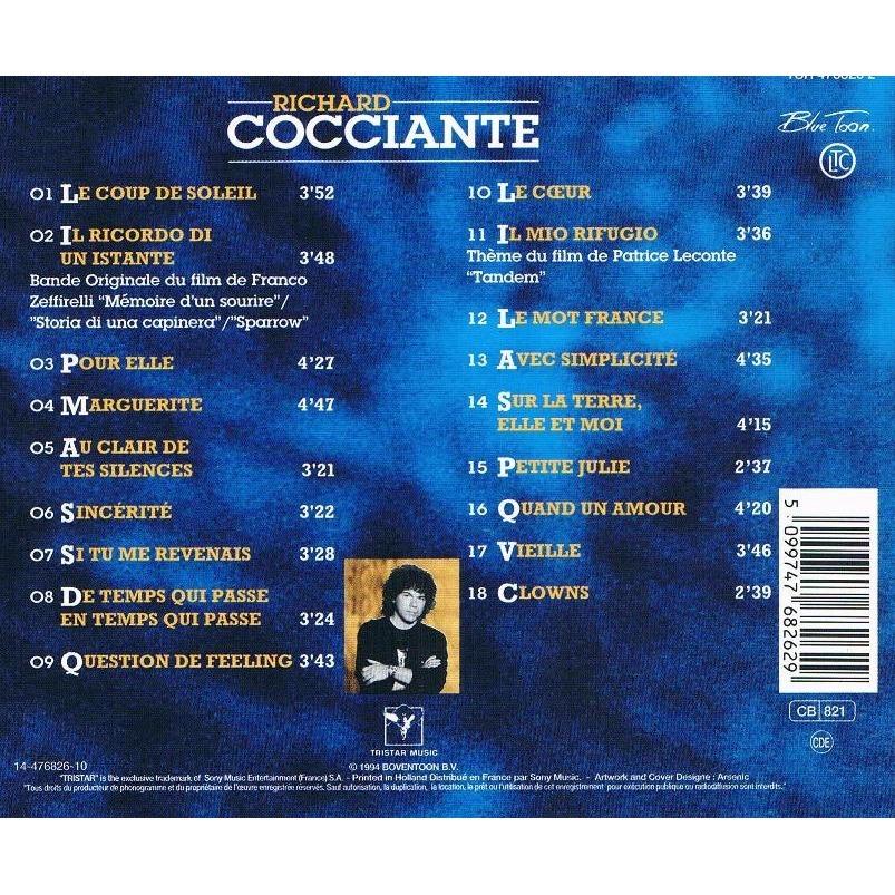 Best of de richard cocciante cd chez francophonies ref - Richard cocciante album coup de soleil ...