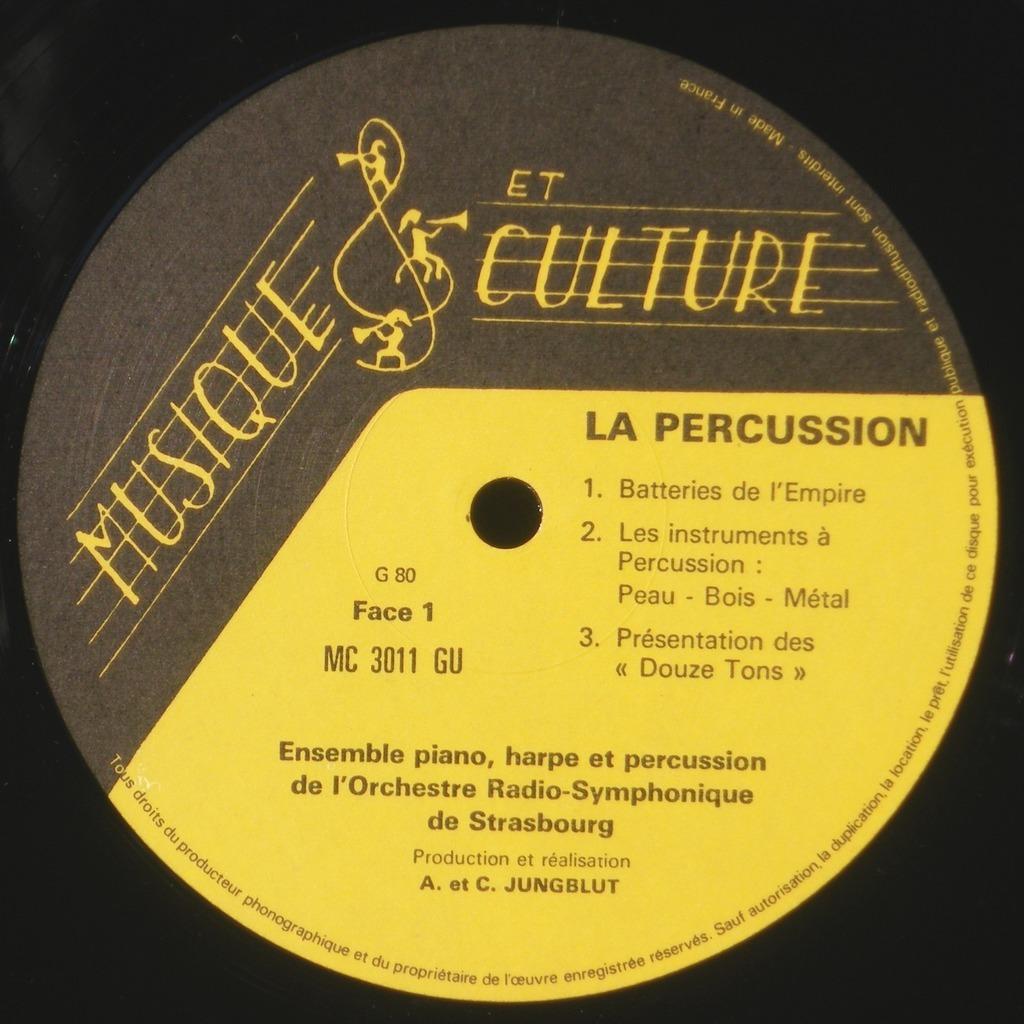 Percussions de Strasbourg, Marius Briançon Les 12 tons de Pierre Gabaye