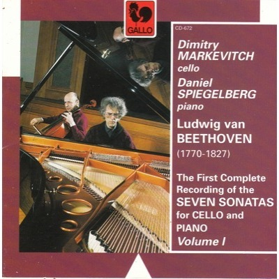 dimitry markevitch daniel spiegelberg beethoven: the first complete recording of the seven sonatas for cello and piano vol.1