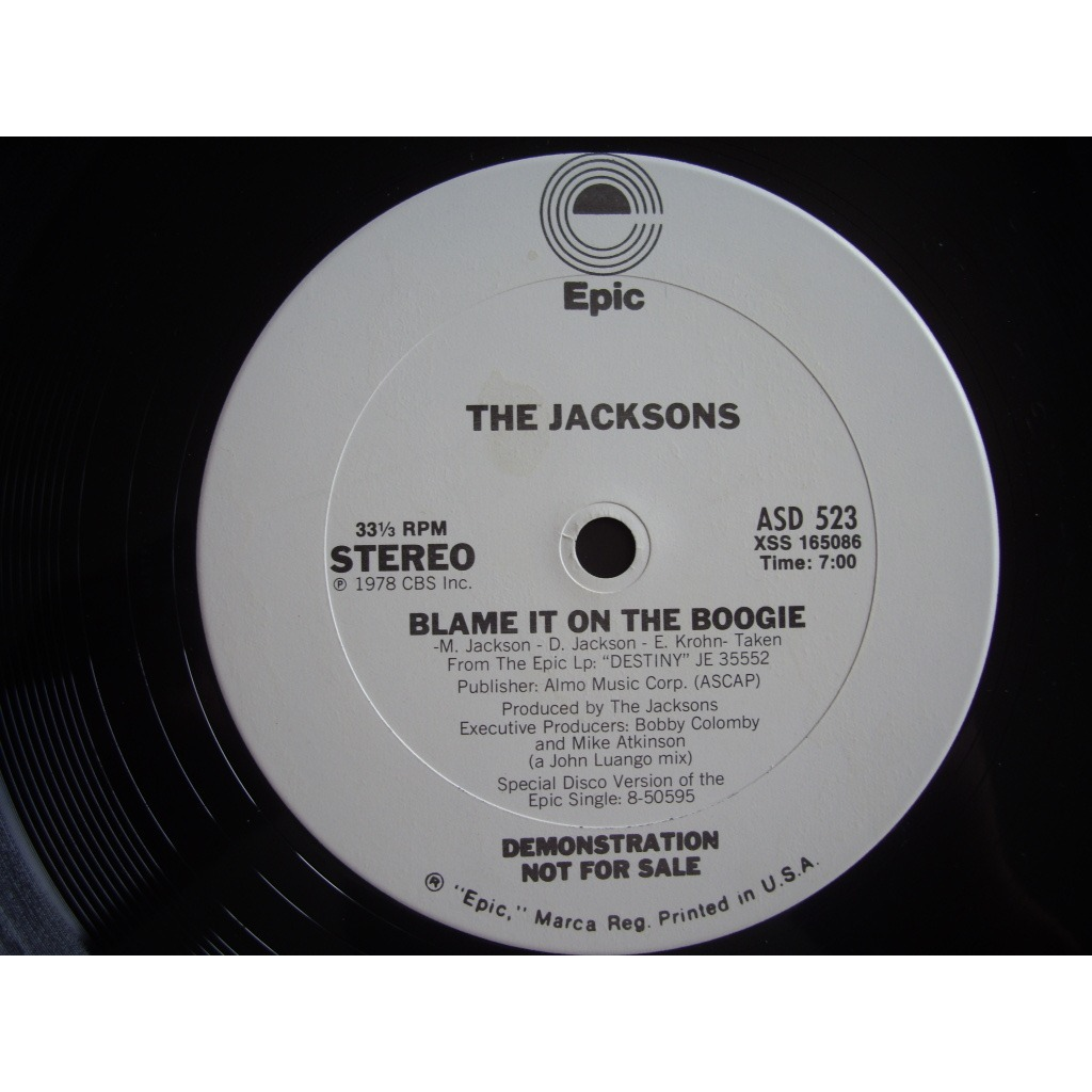the jacksons blame in to the boogie (PROMO US)