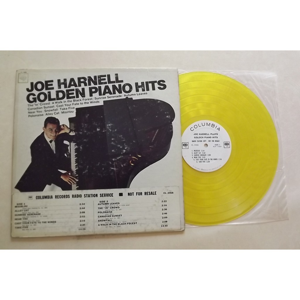 HARNELL JOE GOLDEN PIANO HITS - YELLOW WAX