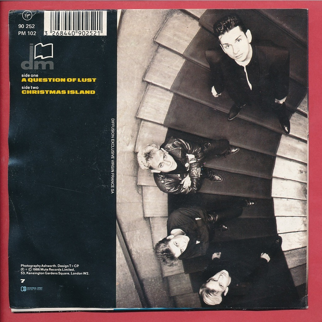 depeche mode a question of lust christmas island 7inch. Black Bedroom Furniture Sets. Home Design Ideas