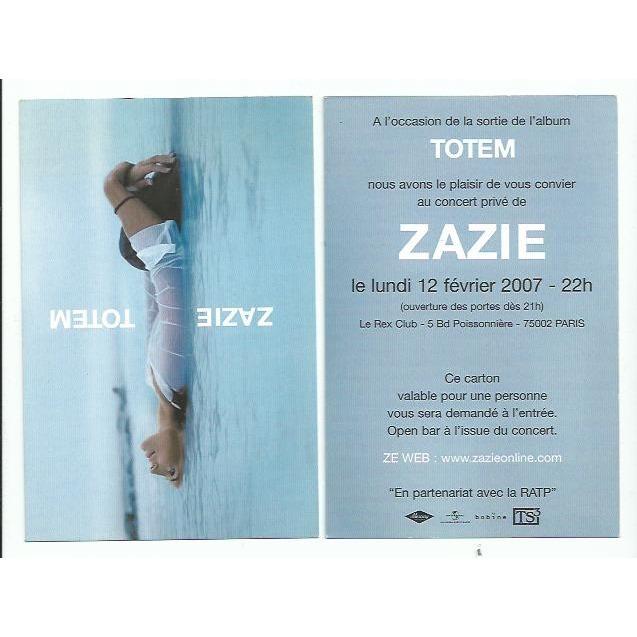 Carte Postale Carton D Invitation Au Concert Pive Du 12 02 2007 Pour