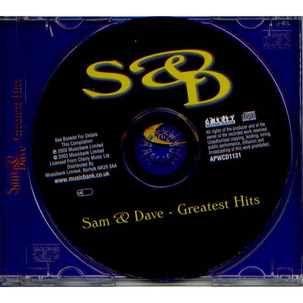 Greatest Hits By Sam And Dave Cd With Grigo