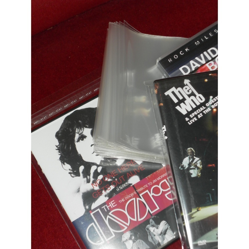 100 POCHETTES pour BOITIERS DVD POCHETTES DVD PLASTIQUE A PRIX DISCOUNT DIRECT FABRICANT