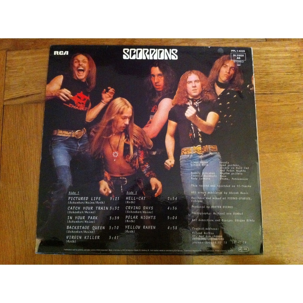 Who is the girl on the album cover of the scorpions virgin