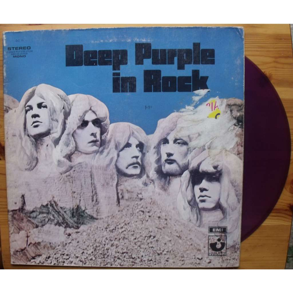 In Rock Disque Violet Purple Vinyl De Deep Purple 33t