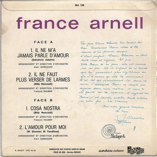 France Arnell Il ne m'a jamais parlé d'amour