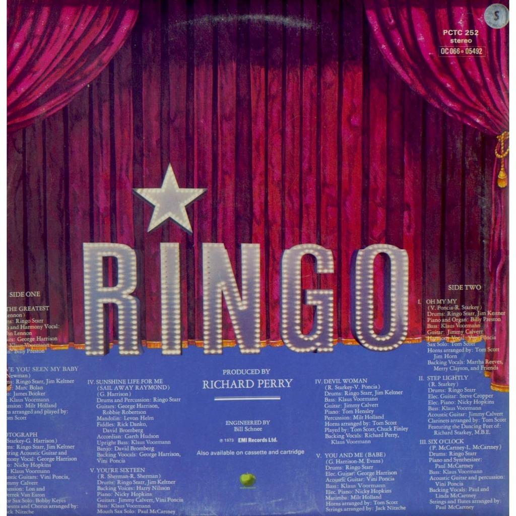 Ringo By Ringo Starr Lp Gatefold With Grigo Ref 115742096