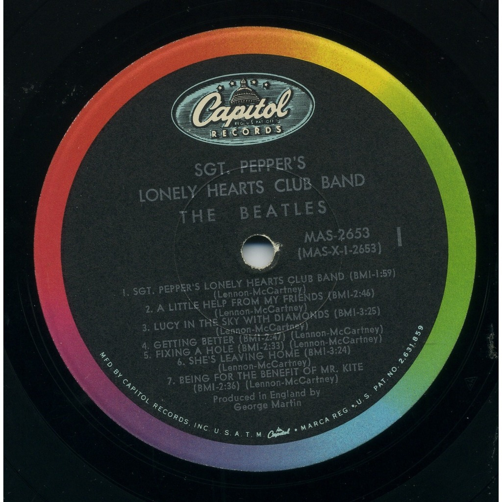 Sgt Pepper S Lonely Hearts Club Band First Mono Us Issue