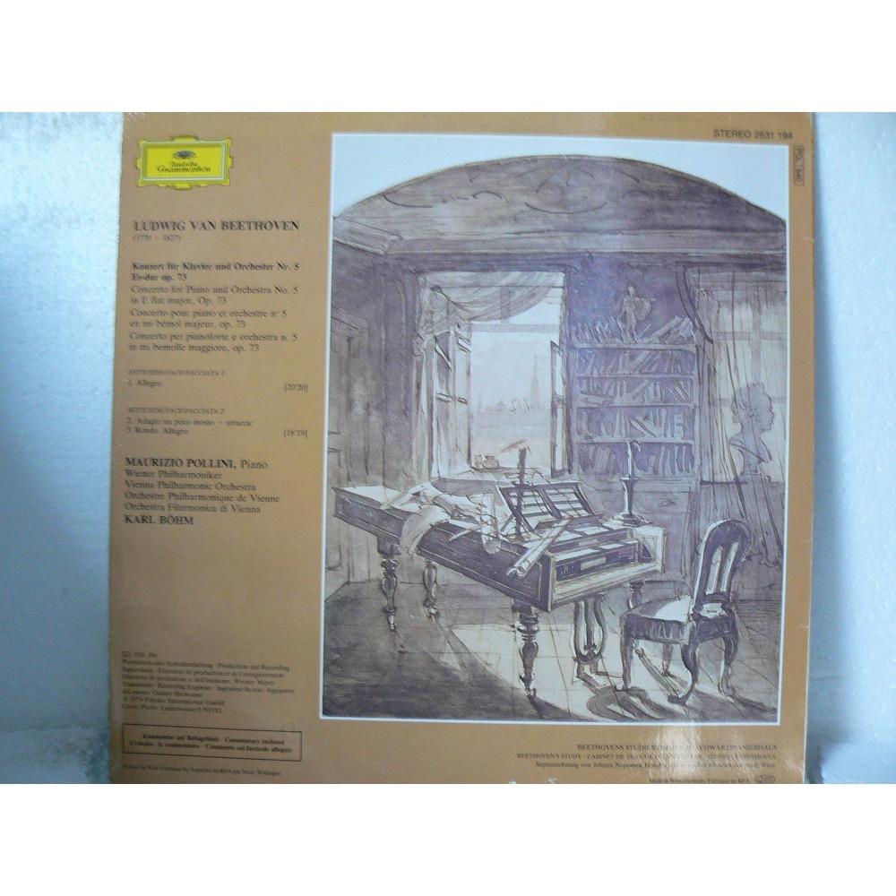 MAURIZIO POLLINI piano-KARL BOHM BEETHOVEN -concert n 5 -emperor concerto l empereure