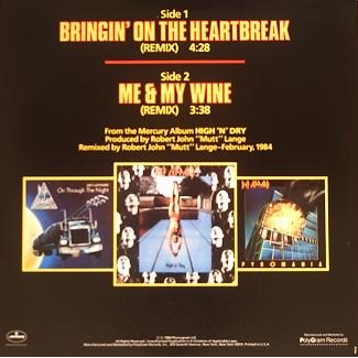 Bringin' on the heartbreak remix promo by Def Leppard, 12inch with musicshop