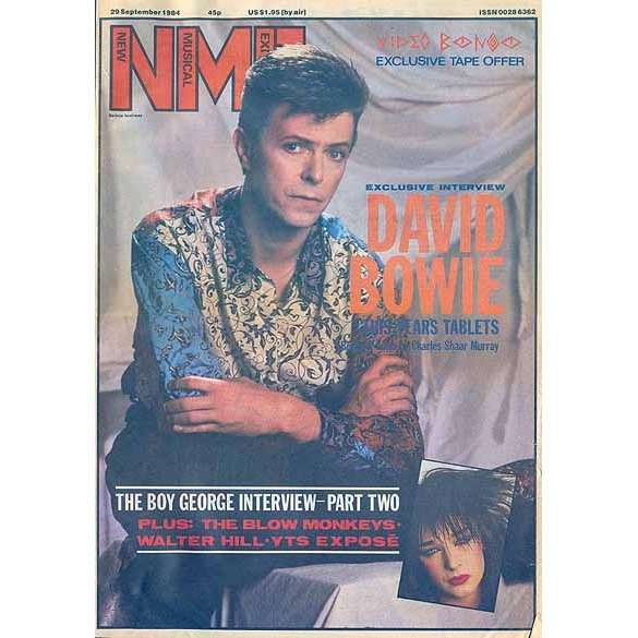 David Bowie Cover Story New Musical Express 29 September 1984