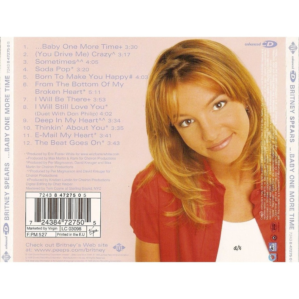 Britney Spears Baby One More Time Music Cd: Baby One More Time By Spears Britney, CD With Jpn1962