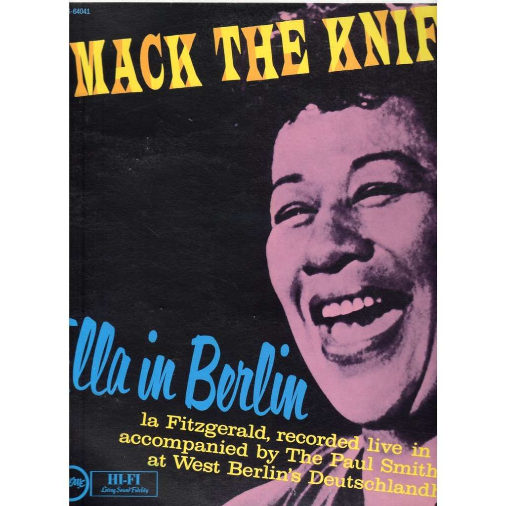 Mack The Knife Ella In Berlin By Ella Fitzgerald Lp