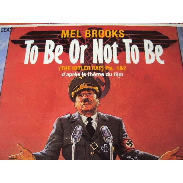 mel brooks TO BE OR NOT TO BE (PART 1 7'43) 1983 FRANCE (MAXIBOXLP)