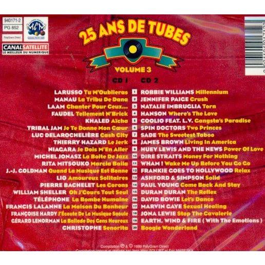 compilation . divers . various artists 25 ans de tubes vol 3