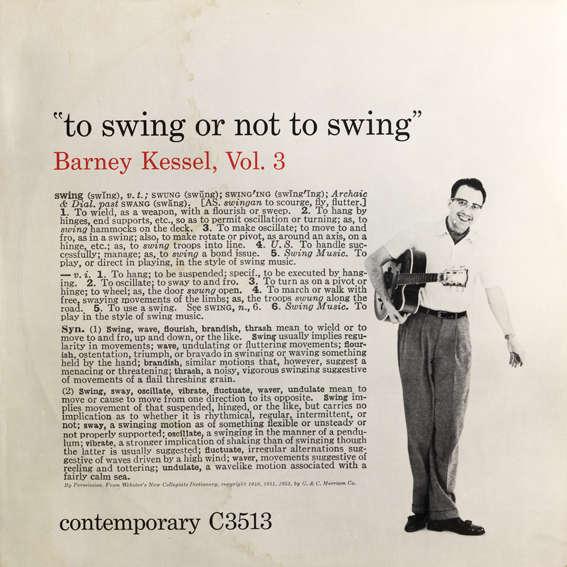 Barney Kessel To swing or not to swing  - Vol.3  (1955)