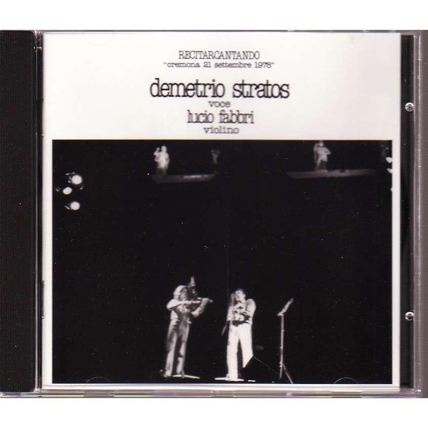 DEMESTRIO STRATOS  VOCE LUCIO FABBRI VIOLINO RECITARCANTANDO 1978