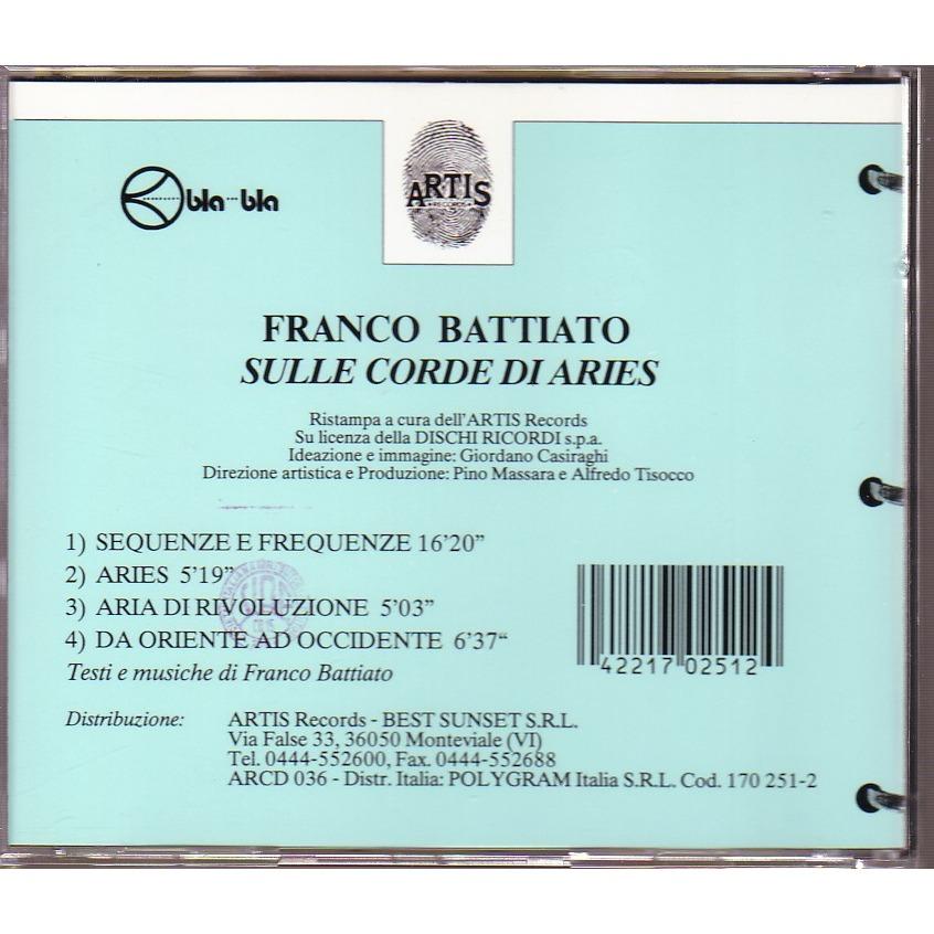 FRANCO BATTIATO SULLE CORDE DI ARIES