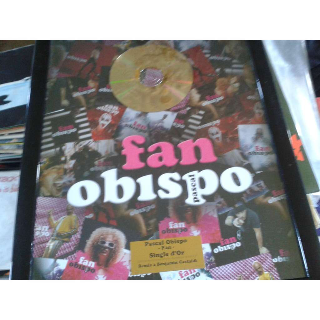 pascal obispo fan single d'or