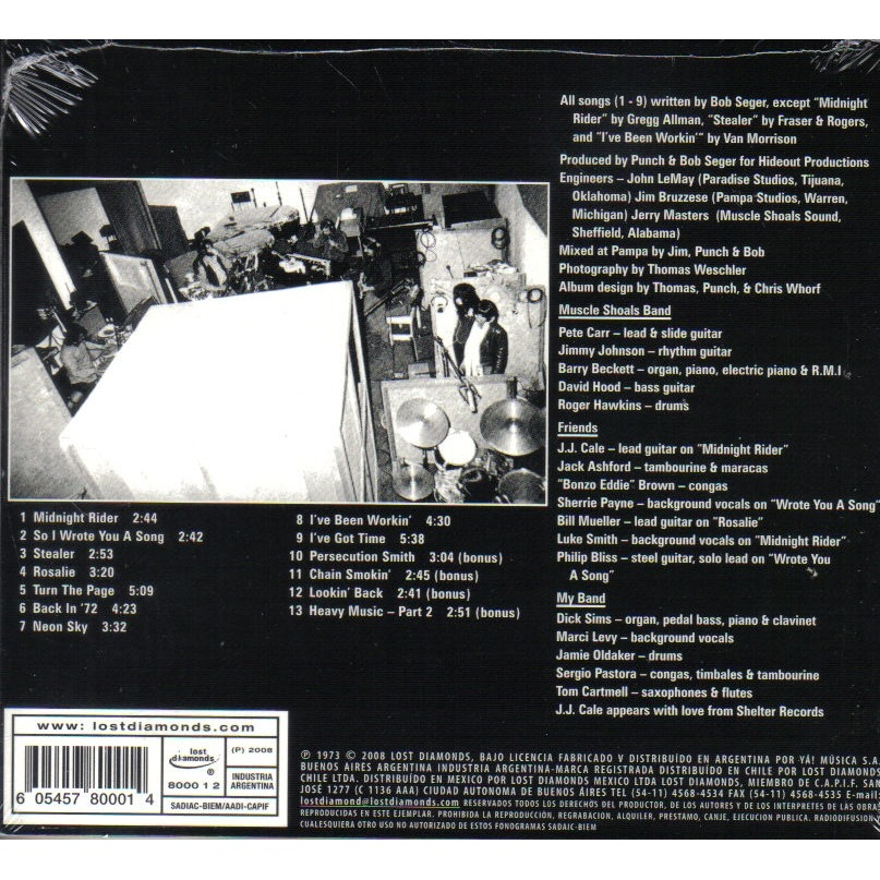 Back In 72 By Bob Seger Cd With Ald93 Ref 115831190