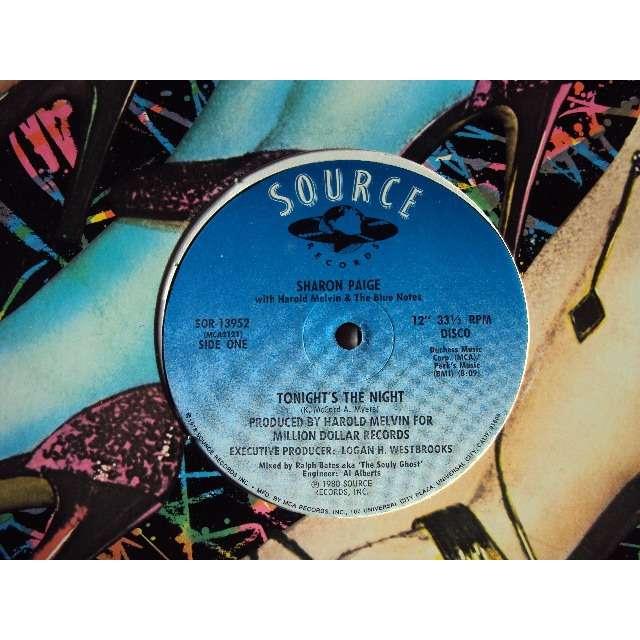 sharon paige TONIGHT'S THE NIGHT (Long version 8'09) 1980 USA (MAXIBOXLP)