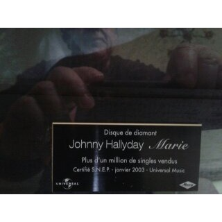 johnny hallyday DISQUE DE DIAMANT MARIE