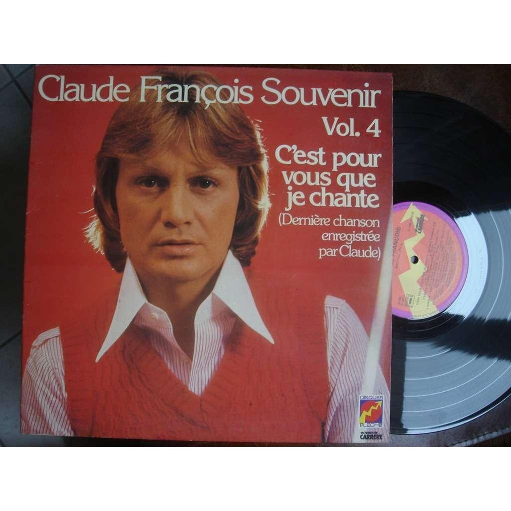 claude françois c'est pour vous que je chante( dernière chanson enregistrée par Claude )
