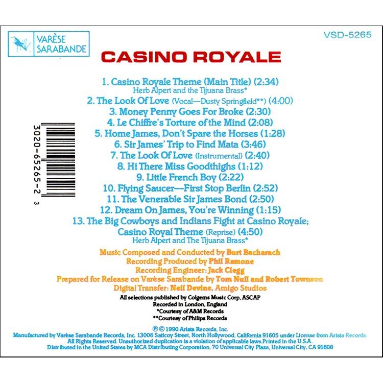 casino royale burt bacharach