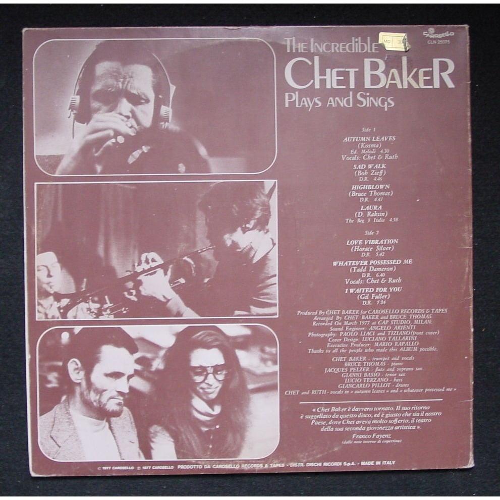 Chet Baker Sings Plays